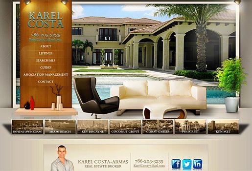 Website Real Estate Desain Terbaik - Karel Costa - Miami, FL