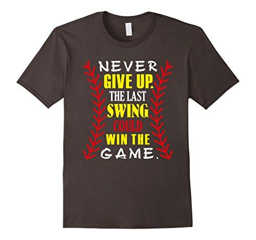 Girl's Softball T Shirts Last Swing Could Win the Game Softball Saying Te Shirt Girls Never Give Up The Last Swing Could Win The Game T-Shirt for girls playing softball or baseball who really familiar to these words: sweat dries blood clots bones head. Because only real girls become Softball Players adorable t-shirt for girls who never give up. Cute Softball Shirt for a girl who plays softball with her softball team. Wonderful girl's gift on a mother's day or a birthday with a cute softball…