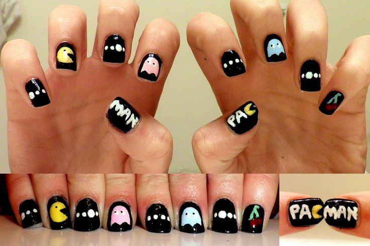 pac man nails