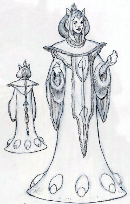 Star Wars Padme Theed Throne Room Dress - Original Concept Art