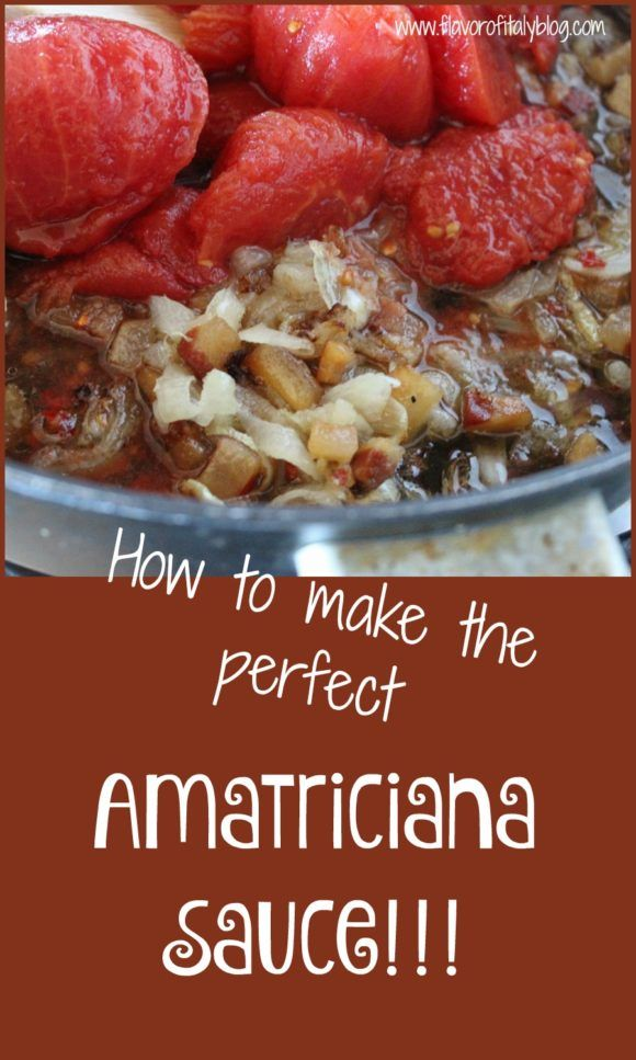 Perfect Amatriciana Sauce every time!