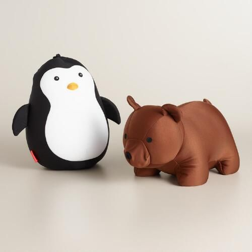 A neck pillow that turns into a bear (or penguin)? Of course our customers need these!