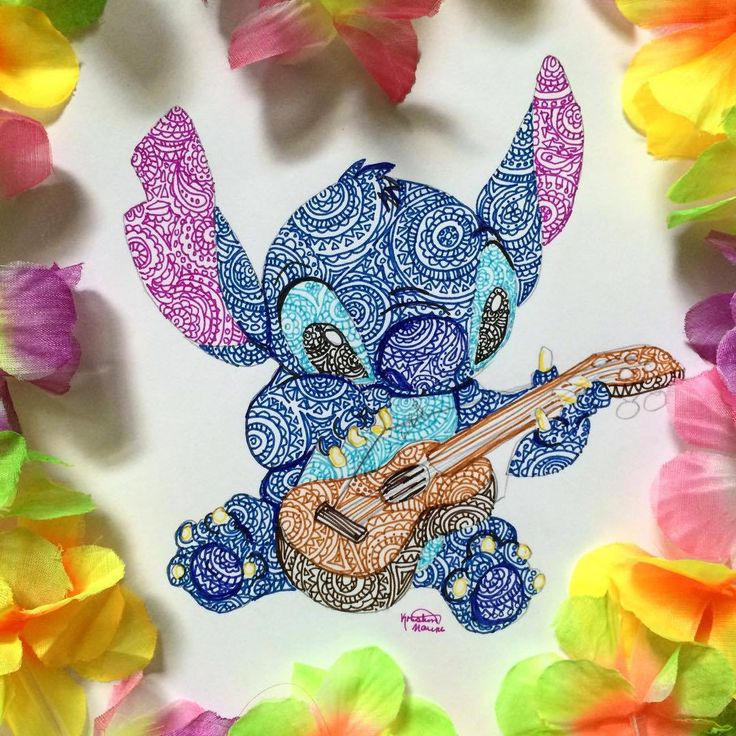 Stitch (Drawing by Kristina_Illustrations @Instagram) #LiloAndStitch