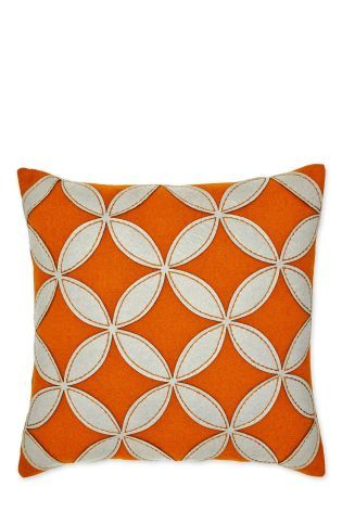 Wool Rich Geometric Appliqué Cushion #FashionYourHome