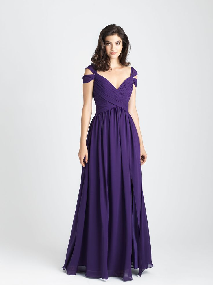 Style: 1504. We embraced the look of the season with this chic off-shoulder gown.