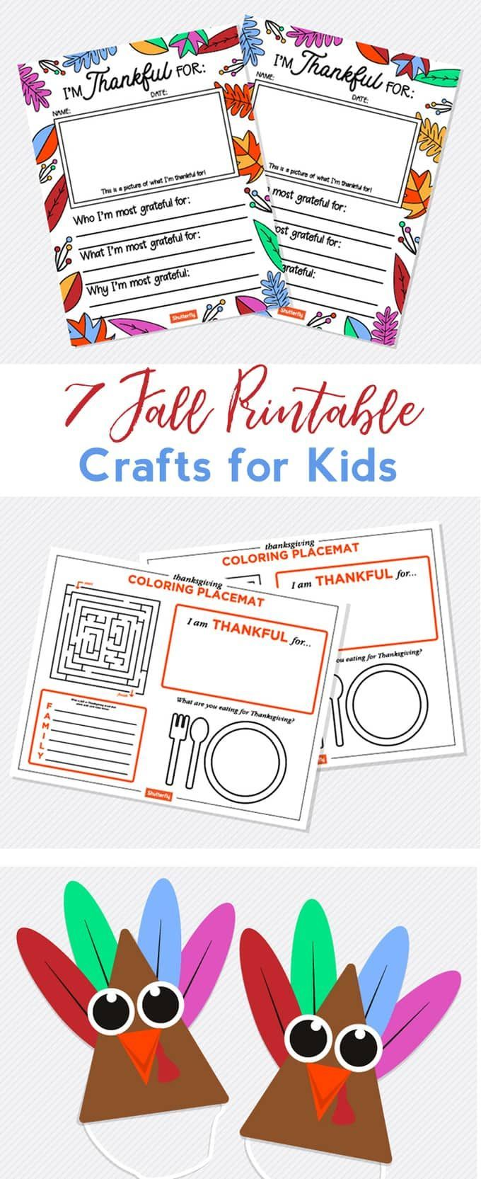 fall crafts for kids with free printables | collective crafts