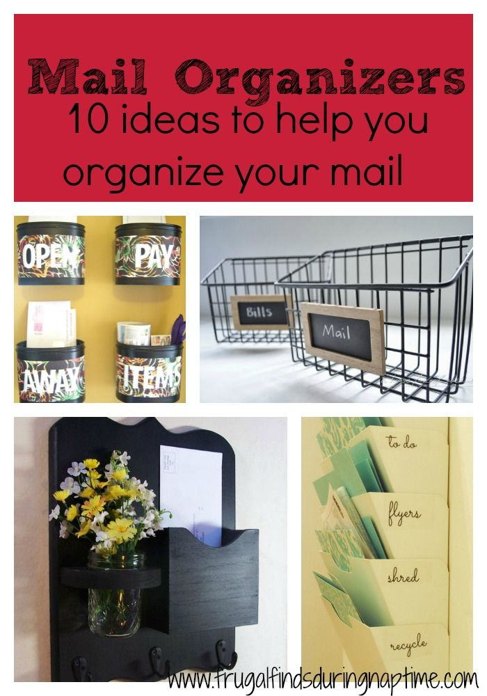 Get rid of that junk mail clutter with these 10 awesome ideas to help you organize your mail! Some are cute, some are modern but all are amazing at managing clutter!