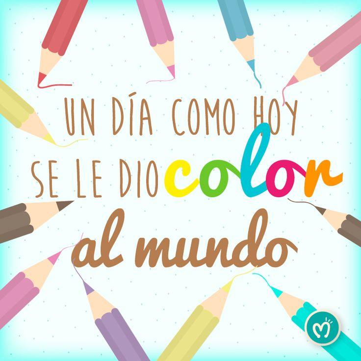 Un día como hoy se le dio color al mundo, ¡Feliz Día del Color! #Color #Design #Migas Escríbenos al 314 855 2090
