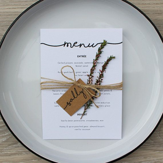 ::::::::::::::::::::::::::::::::::::::::::::::::::::::::::::::::::::::::::::::::::::::::::::::::::::::::::::::::: RUSTIC WEDDING MENU INCLUDING GUEST NAME TAG :::::::::::::::::::::::::::::::::::::::::::::::::::::::::::::::::::::::::::::::::::::::::::::::::::::::::::::::::  Rustic themed wedding menu with brown kraft card guest name tag wrapped in twine. Minimum order of 10 menus…
