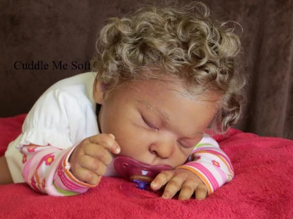Adopted -  Adorable biracial reborn baby girl available for adoption. Please visit www.cuddlemesoft.com for details.