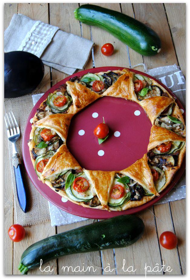tarte étoiles aux légumes d'été