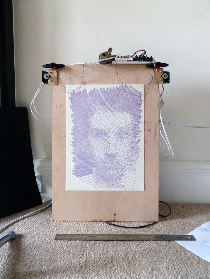 This shows some of the results of my polargraph drawing machine.