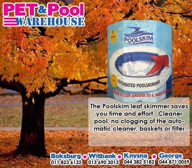 The Poolskim leaf skimmer saves you time and effort, Cleaner pool, no clogging of the automatic cleaner, baskets or filter. Get yours from your nearest #PetPoolWarehouse. #PoolSkim