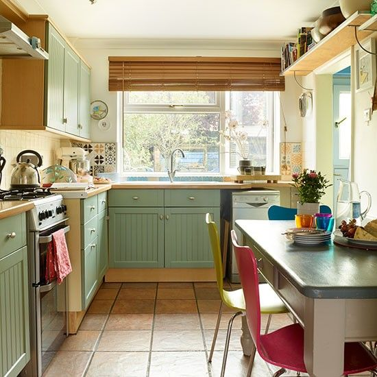 13 best images about small kitchen ideas on pinterest for Green country kitchen ideas