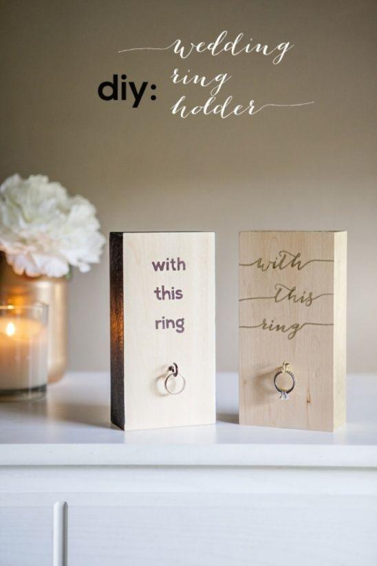 DIY Wedding Ring Holder by Jen Carreiro   Project   Home Decor   Papercraft / Weddings   Decorative   Rings   Kollabora