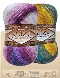 Alize Angora Lurex Gold Batik, Hand Knitting Yarn