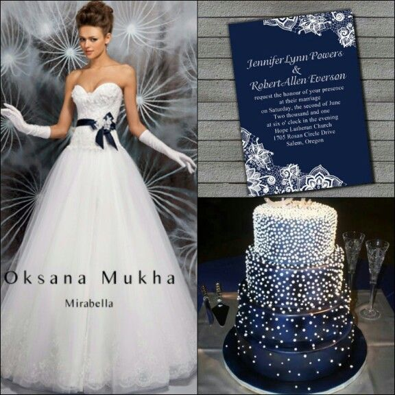 Navy Blue Wedding Inspiration Love Dress And Cake