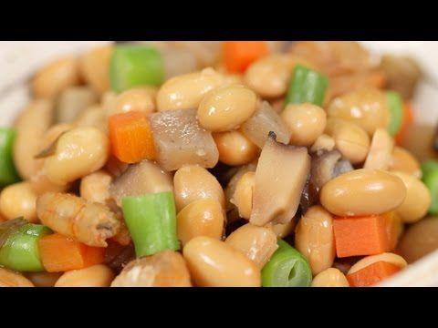 GOMOKU-MAME, 五目豆 (Soybeans, Burdock Root, Konnyaku, shiitake, Carrot, kombu, Dried Shrimp, String Bean)