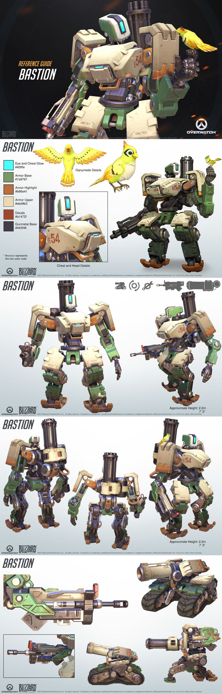 Character Design Handbook : Overwatch bastion reference guide ca pinterest