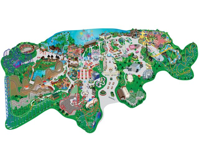six flags great adventure map roller coaster and disney s