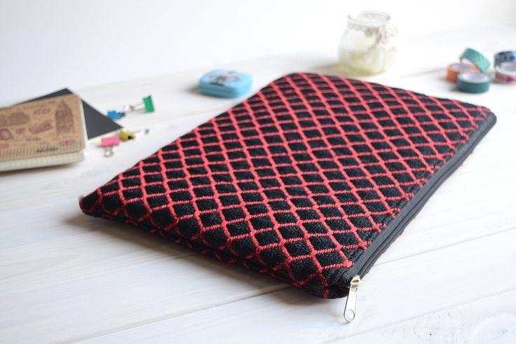 Red Black MacBook Air Pro 13 sleeve, MacBook Pro 13 sleeve, MacBook 13 Case, Macbook Air 13 sleeve, MacBook Air 11 Case, Macbook Air sleeve by CasesLab on Etsy