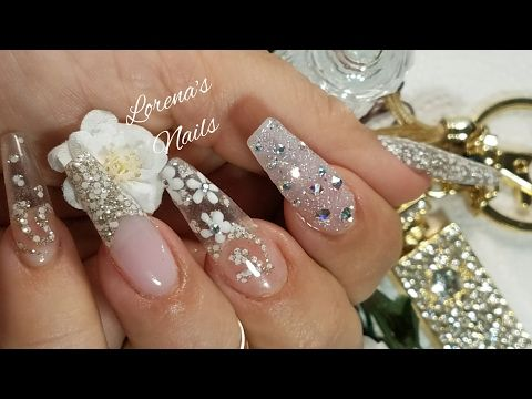 Uñas Acrilicas Naturales Para Novia. # 1- By Sabrinas. - YouTube