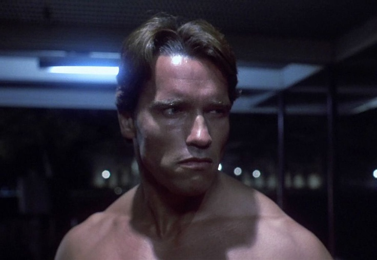 Arnold Schwarzenegger as the T-800 in THE TERMINATOR (1984 ...