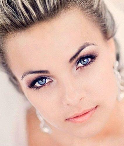wedding makeup for blue eyes