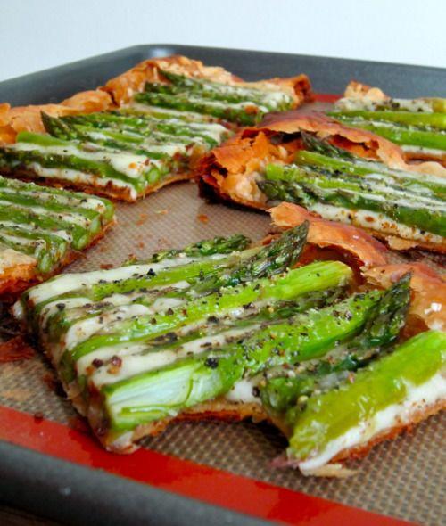 Asparagus and Gruyere Tart   Food   Pinterest