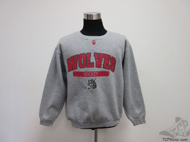 Sportco Chicago Wolves IHL Crewneck Sweatshirt sz M Medium St Louis Blues  #SportcoAuthentic #StLouisBlues #tcpkickz