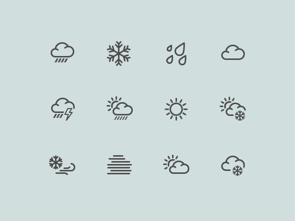 Dribbble - more weather icons.png by Eugene Artsebasov