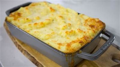 Shepherds Pie from Padma Lakshmi (substitute lentils for ground beef)