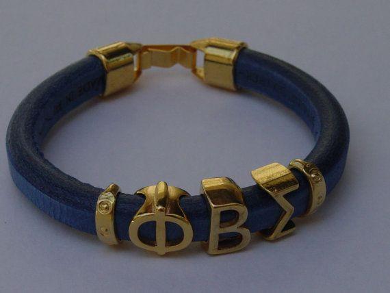 Phi Beta Sigma Greek Sliding Letters Leather Handmade by LindosArt