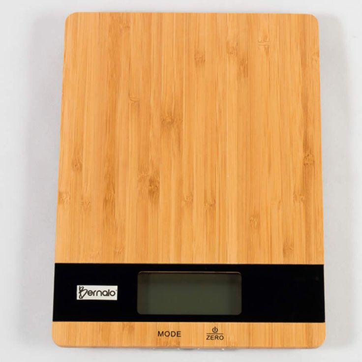 $69.900 Balanza Digital de Cocina de Bambú con Capacidad de 5kg.