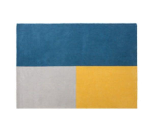 Elkan Large Tufted Wool Rug 160 x 230cm, Block Blue