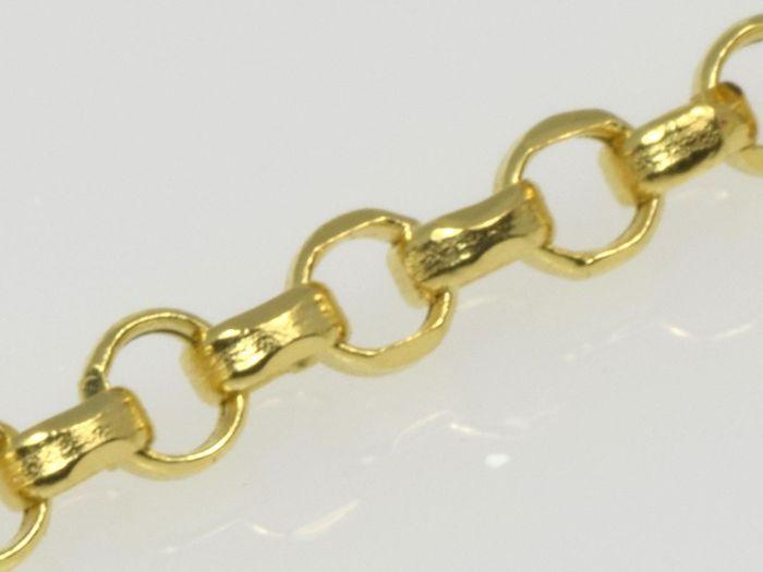 Dames 18k gouden Rolo ketting. Lengte 50 cm.  18 karaat geel gouden ketting.De ketting wordt gemarkeerd 750 en is in nieuwstaat.Ketting breedte: 135 mmKettinglengte: 50 cmKettinggewicht: 1.42 gType keten - Rolo diamant geslepenPrimaire materiaal - goudMateriaal kleur - geelMateriële zuiverheid - 18K/750Connector - springslotStaat: nieuw niet gebruiktGeregistreerde scheepvaartROL.135.50.142  EUR 15.00  Meer informatie