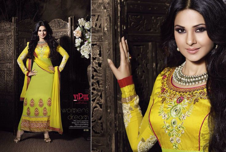 Beautiful Yellow Straight Line Salwar Kameez Write us for any enquiry at hello@thebollywoodbazaar.com