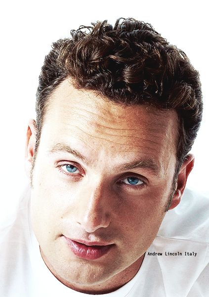 Andrew Lincoln ... blue eyes and white T-shirt