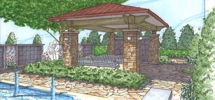landscape marker rendering