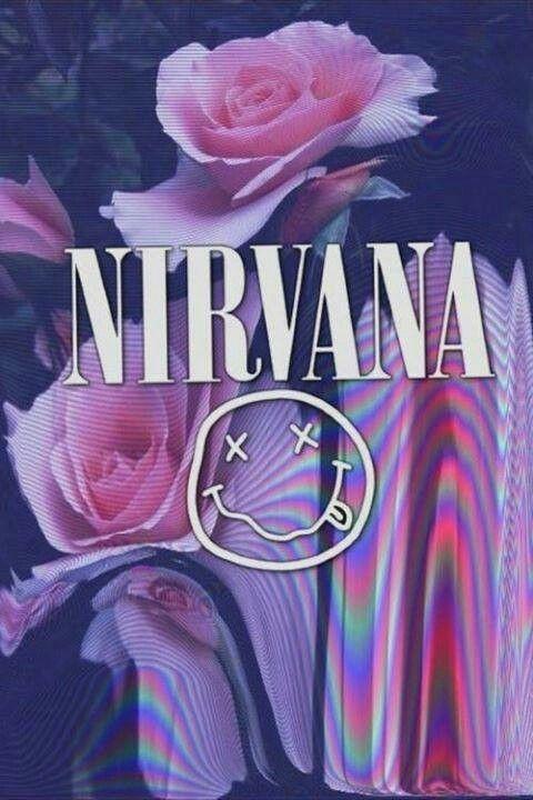 Nirvana logo flowers