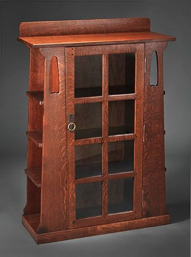 Mission limbert 355 cottage bookcase cool furniture for Craftsman style bookcase plans