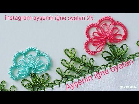 Yeni Başlayanlar için Kolay Model | embroidery thread | oya örnekleri - YouTube