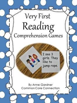 Very First Reading Comprehension Games ~ Help children really understand the connection between text and pictures. Handy for guided reading groups and literacy centers. Some whole group games included too. ($)