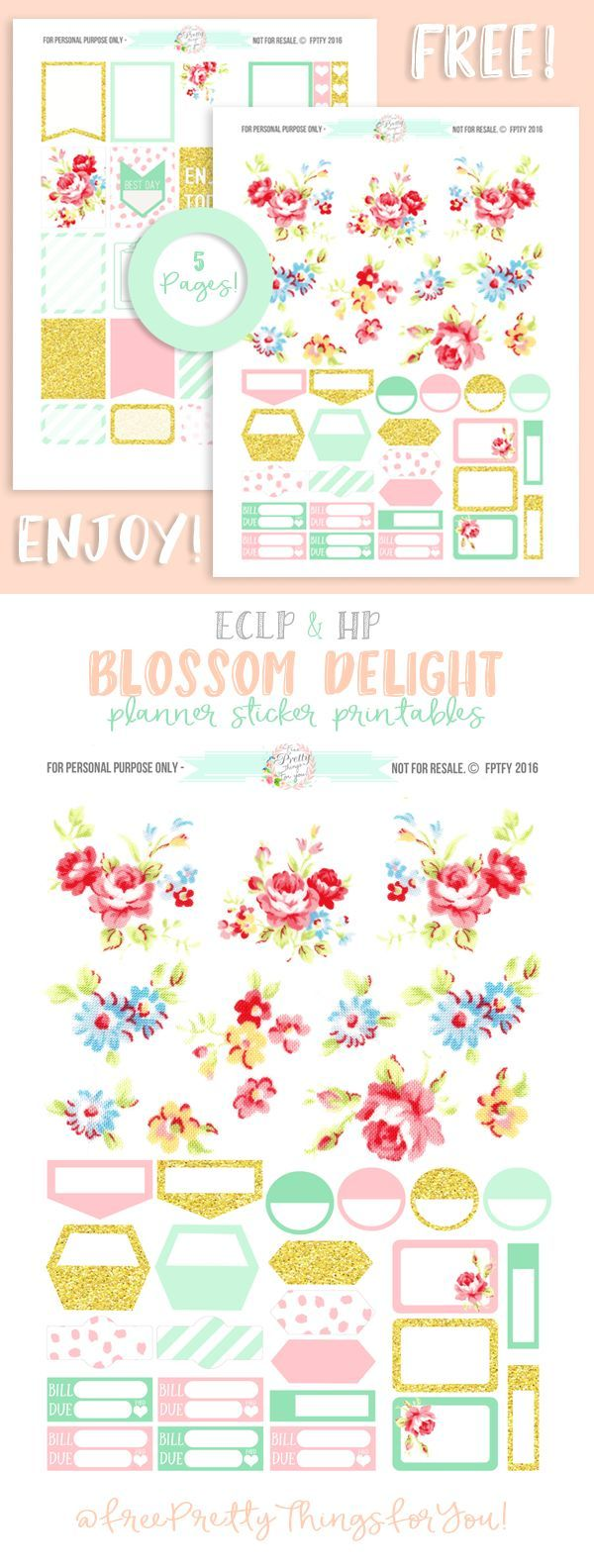 Blossom Delight Planner Addict Printable Collection! - Free Pretty Things For You