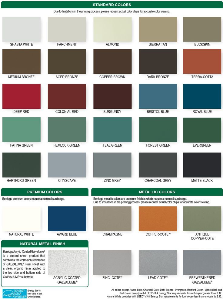 Best Berridge Colors With Images Metal Roof Colors Roof 400 x 300