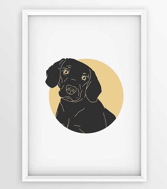 Vintage Beagle Dog Prints Dog Printable Art by seaquintdesign
