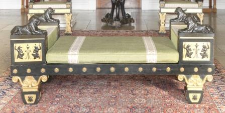 Grecian-style couch by Thomas Hope.  Furniture English Regency.