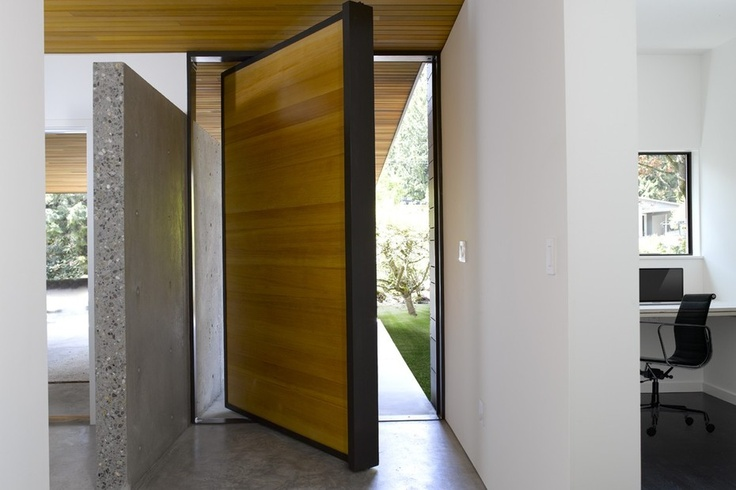 Large, modern and unique front door design. Discovered on search.porch.com #interiors #interiordesign #decor