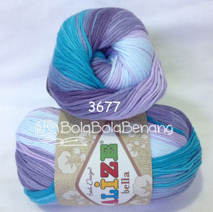 Alize Bella Batik 3677, Price: Rp.65.000,- /gulung, Bahan: 100% COTTON, Berat/Panjang: 50gram/180mt, Knitting Needles: 2mm - 4mm, Crochet Hook: 1mm - 3mm