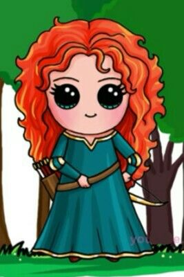 Princesa Merida By:Draw so cute